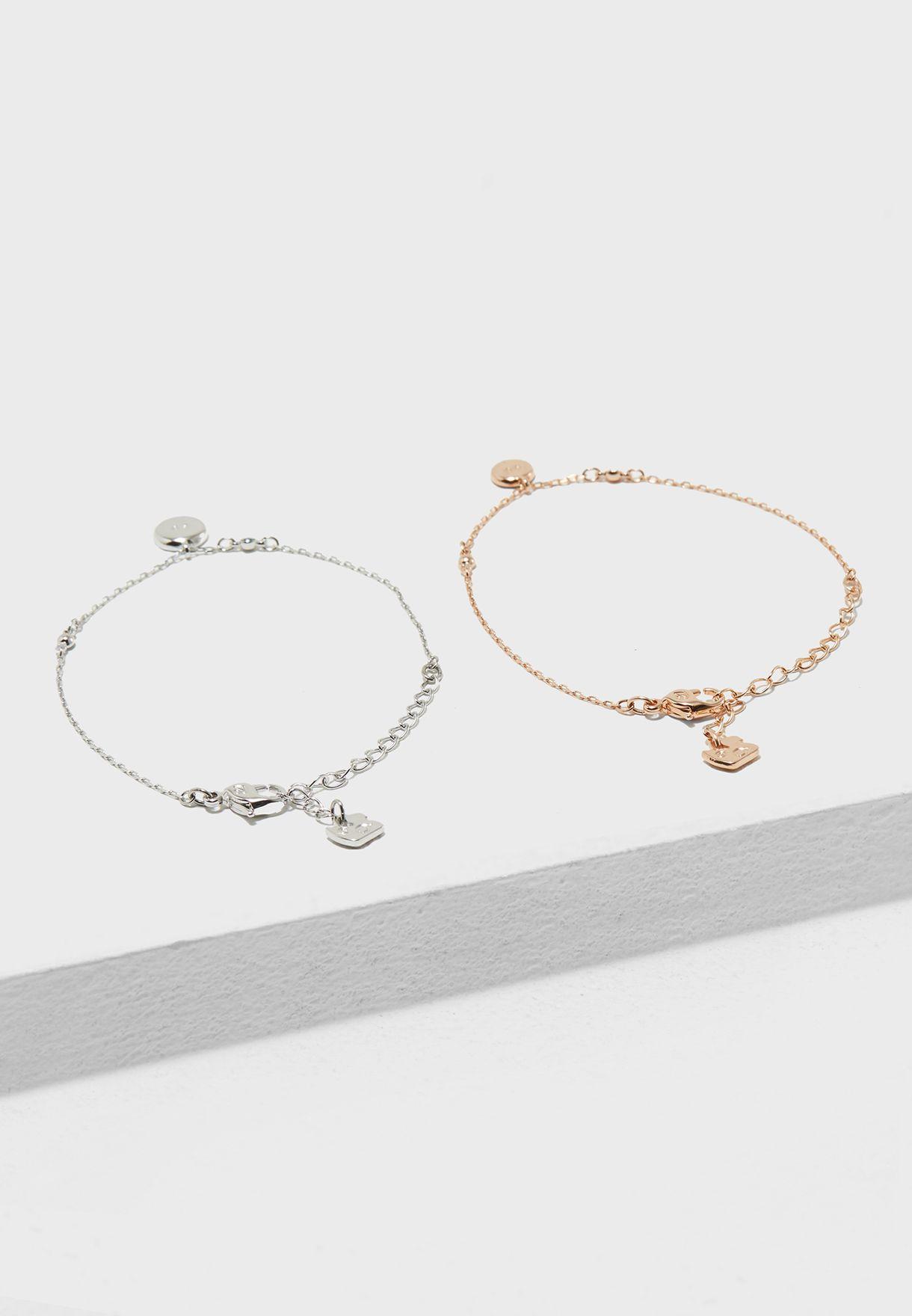 005f6f91ae7 Shop Swarovski multicolor Crystal Wishes Evil Eye Bracelet Set ...