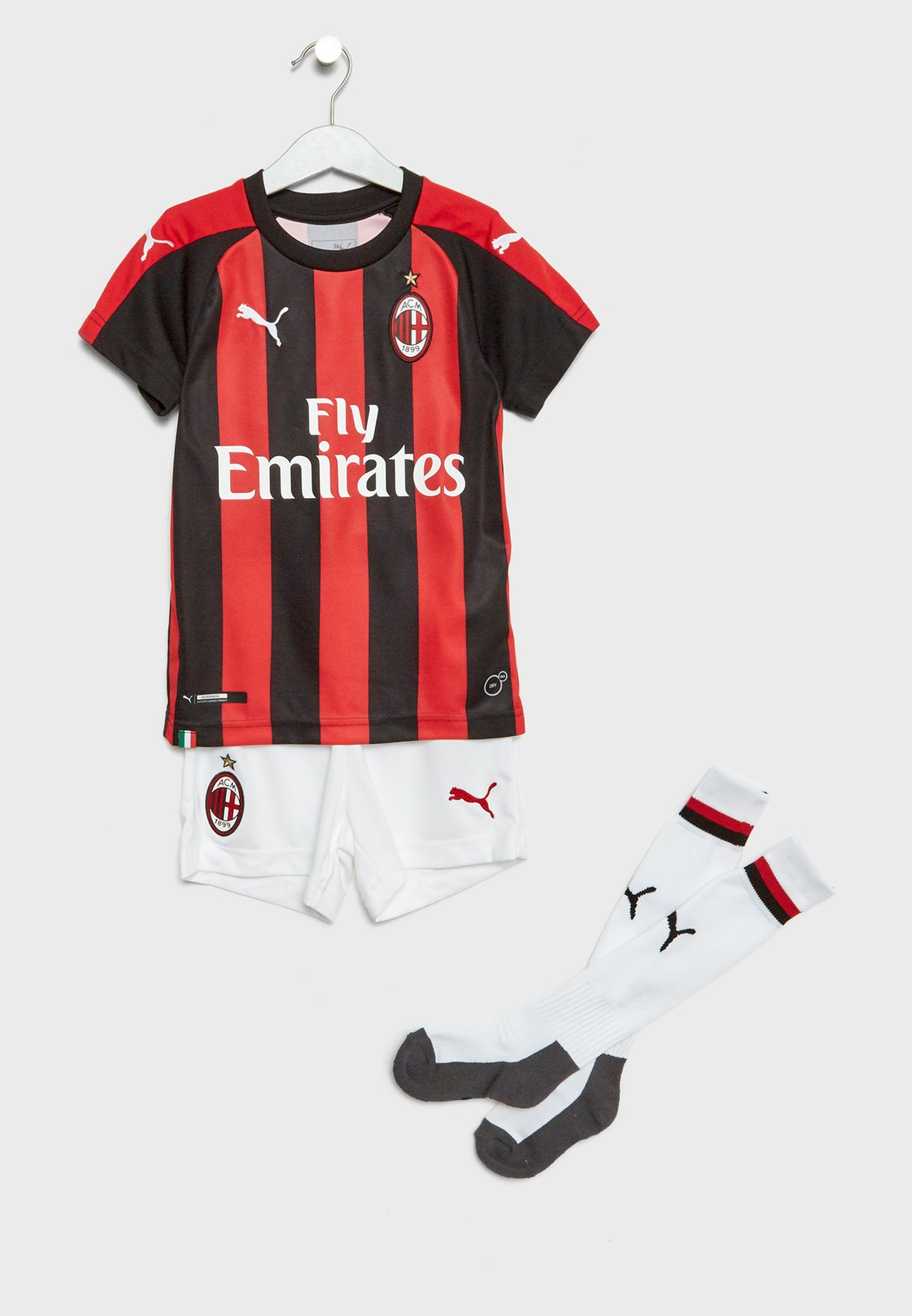 e393bdcb6 Shop PUMA multicolor Kids AC Milan Home 18/19 Kit 75443706 for Kids ...