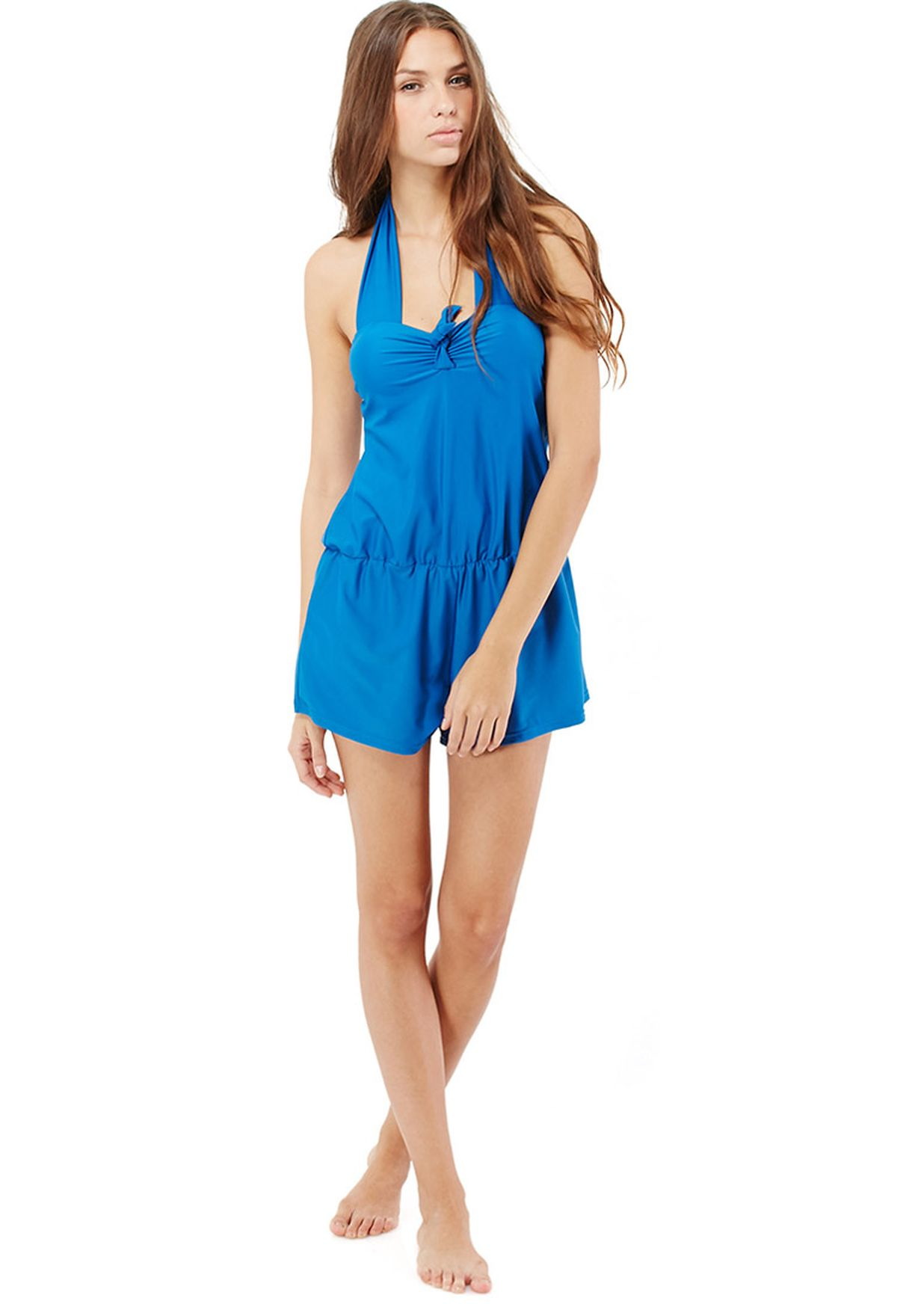 ef7f3804a3e Shop Ginger blue Halter Beach Playsuit for Women in Kuwait ...