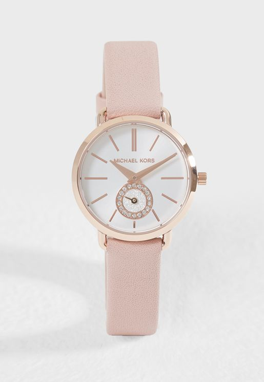 Casual Leather Strap Analog Watch