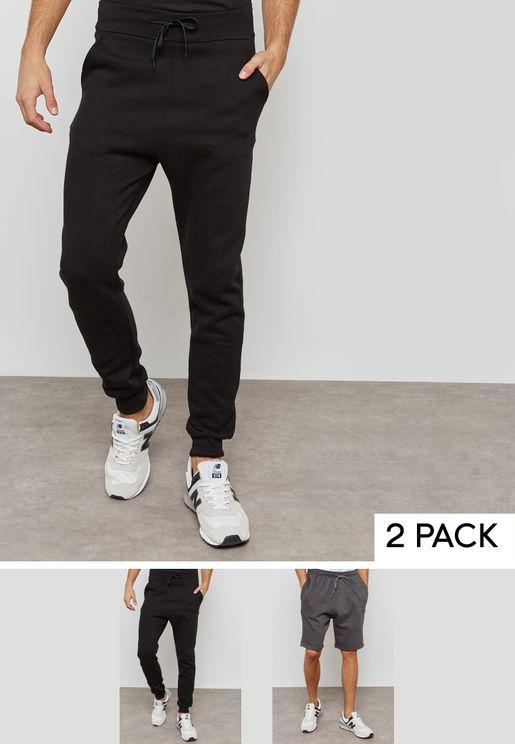 Essential Sweatpants And Shorts Set