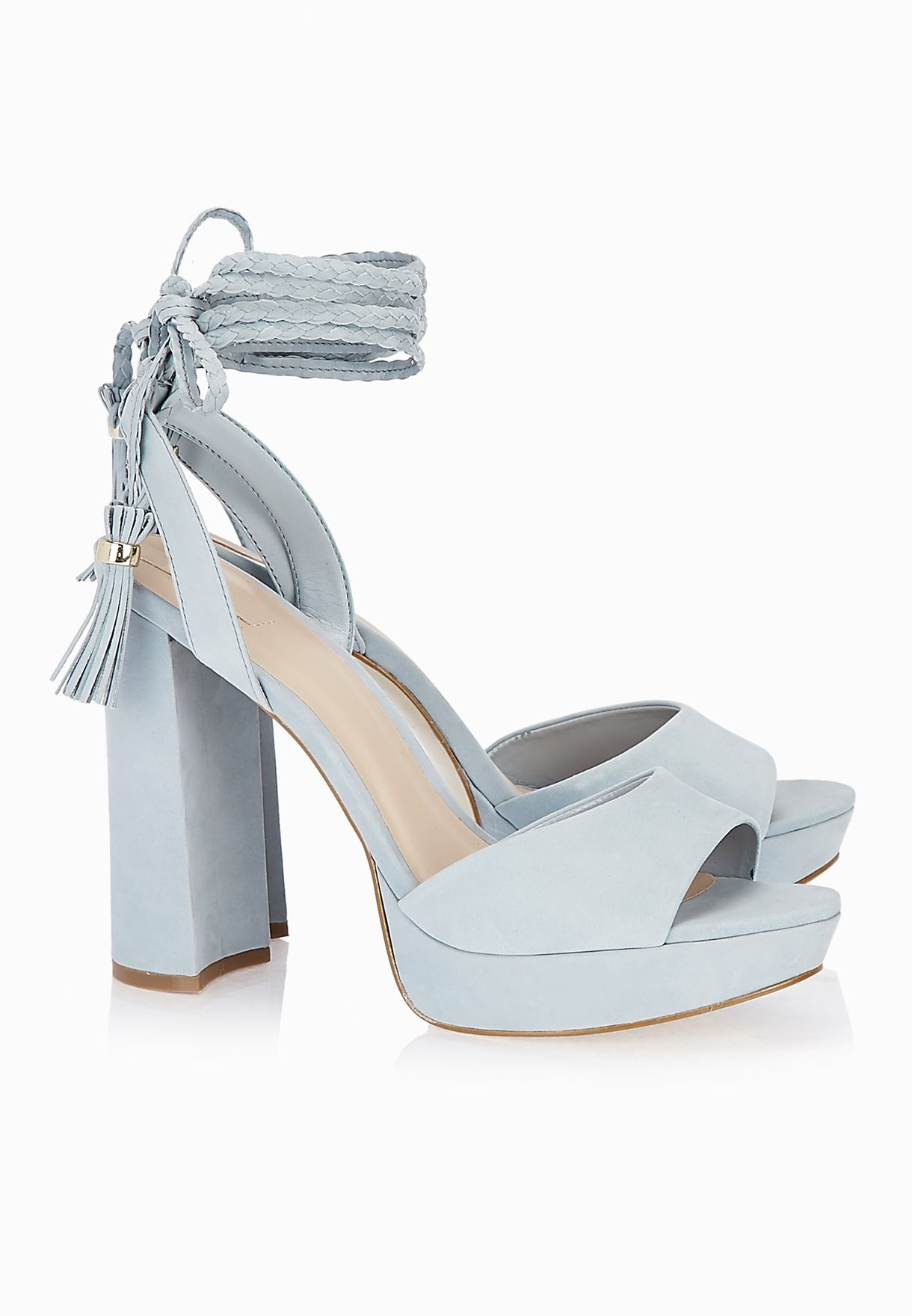 418c6a01ac Shop Aldo blue Chareri Tassel Block Heel Sandals for Women in UAE ...