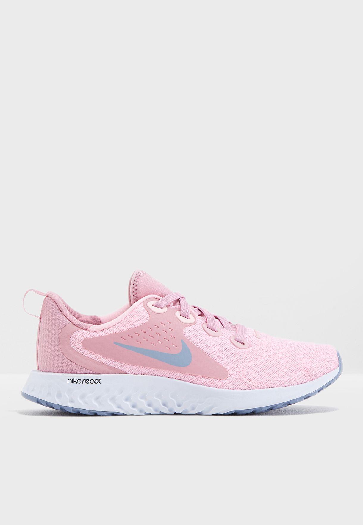 a1fe37d60897 Shop Nike pink Youth Rebel React AH9437-600 for Kids in UAE ...