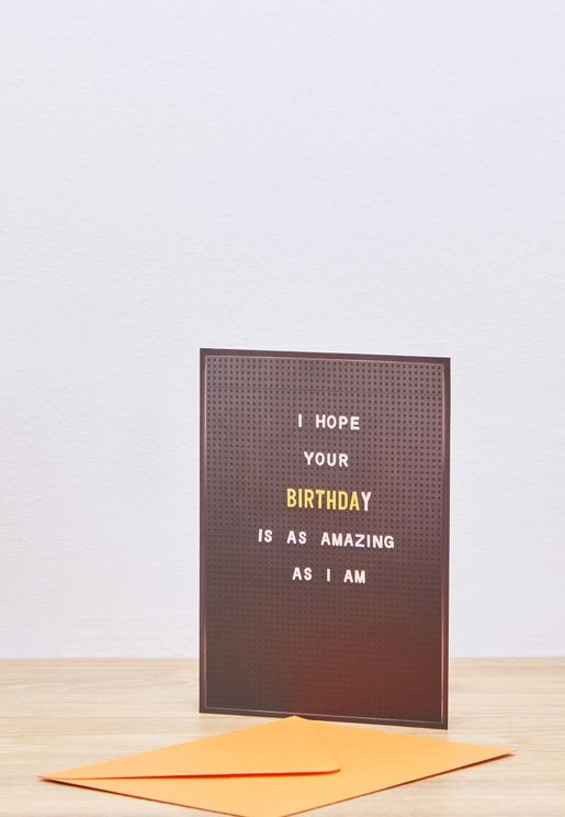 AmazingAsIAm Birthday Card