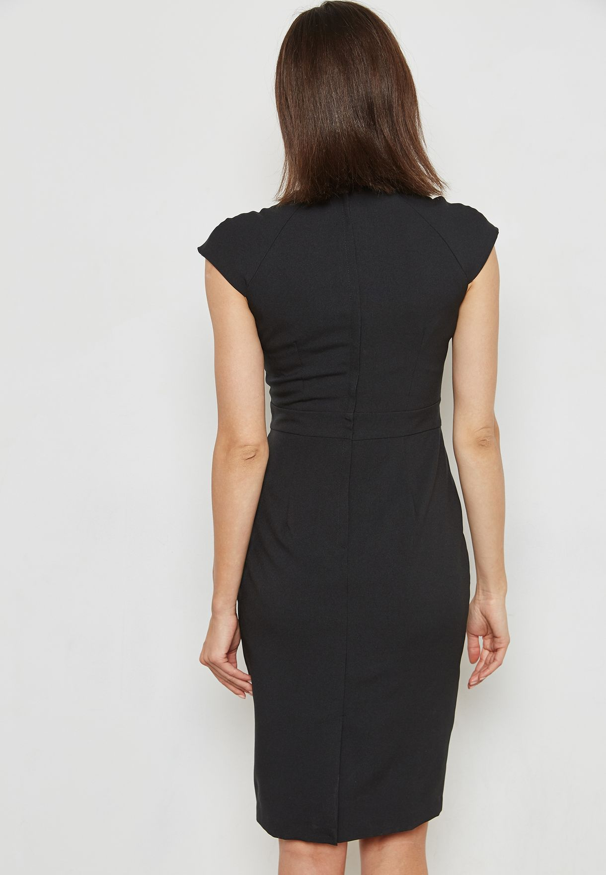 V-Neck Pencil Dress