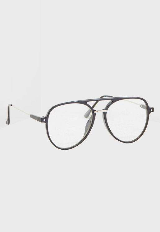نظارات افياتور شفافة