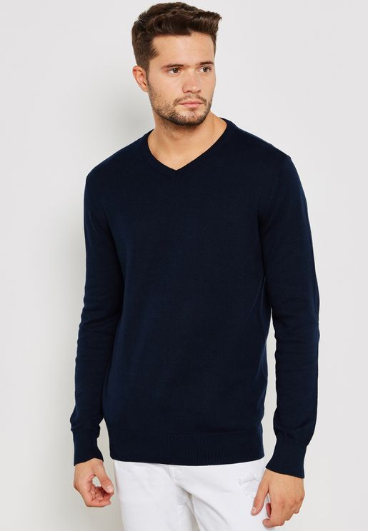 Knitted V Neck
