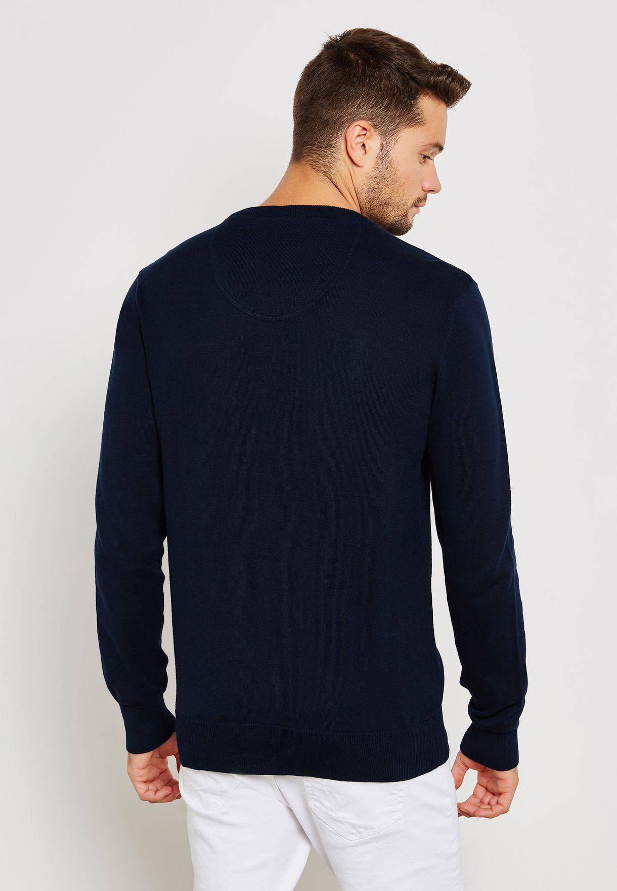 Knitted V Neck