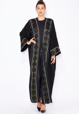 Haya's Closet Embroidered Paneled Abaya