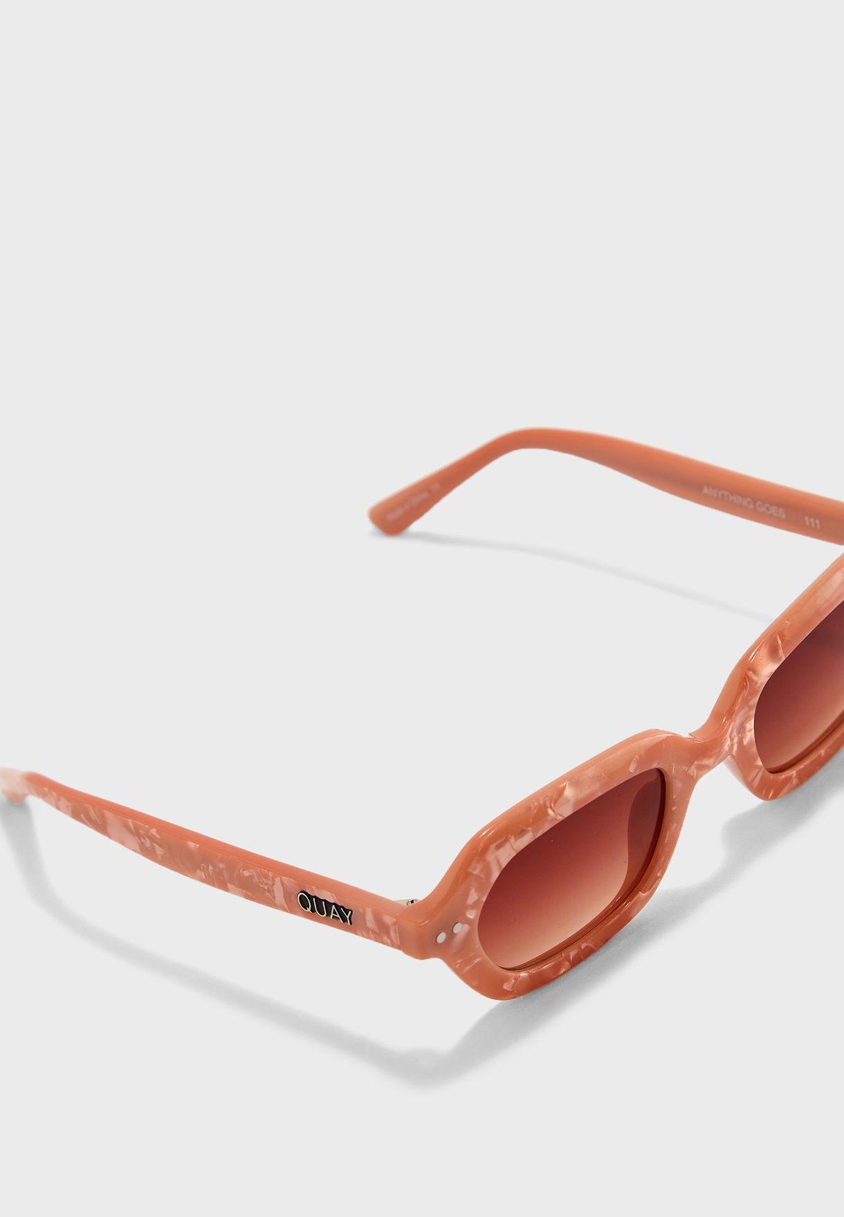 9db9f191c1f Shop Quay Australia pink Anything Goes Sunglasses QW-000392-PCHPRL ...