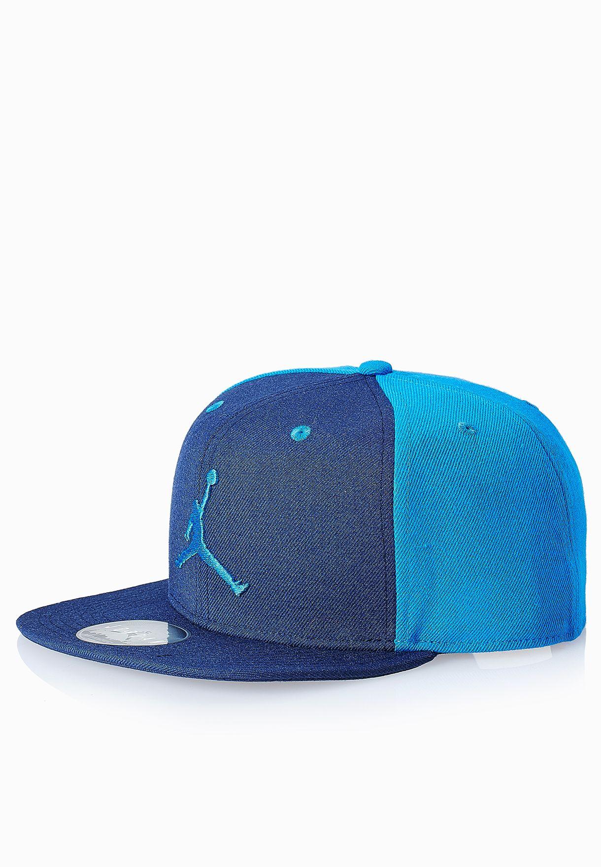 2d169b881a6 Shop Nike blue Jumpman Snapback Cap 619360-411 for Men in Bahrain ...