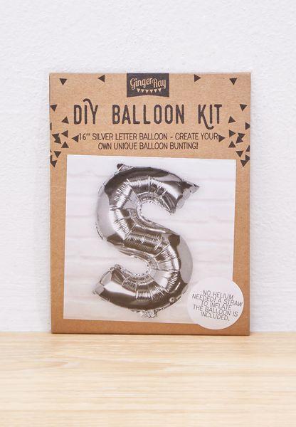 S Initial Foil Balloon