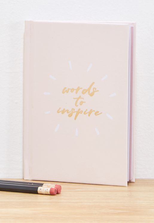 Words To Inspire Notebook