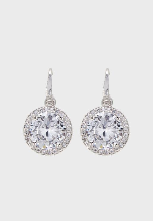 Luxury Solitaire Drop Earrings