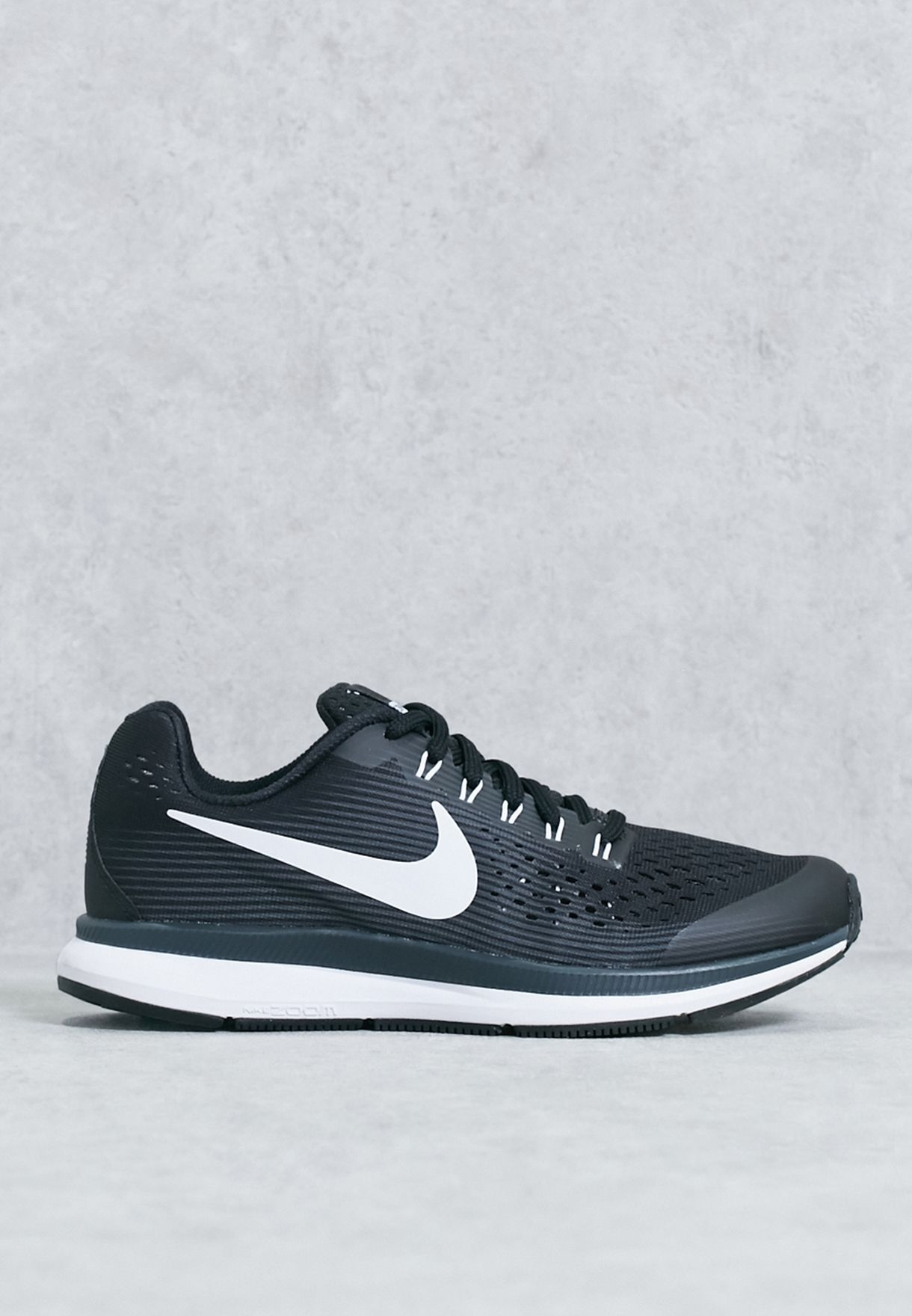 9c35cc7594066 Shop Nike black Zoom Pegasus 34 Kids 881953-002 for Kids in UAE ...