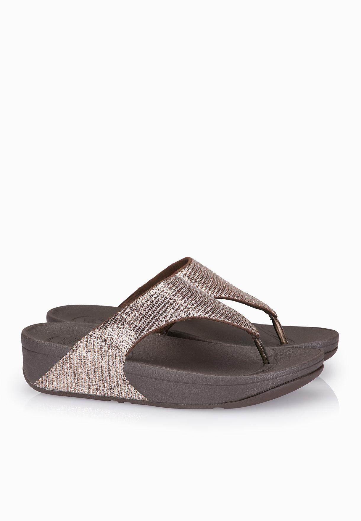 60434dab586155 Shop Fitflop bronze Lulu Superglitz Sandals 599-012 for Women in UAE ...