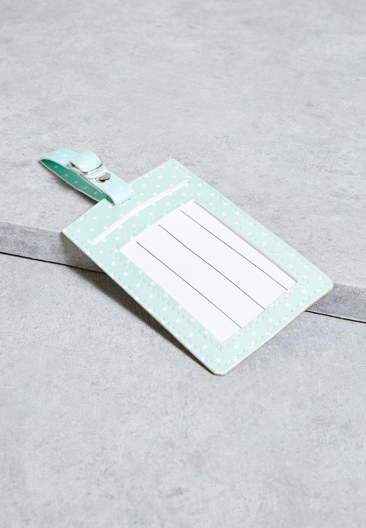 بطاقة تعريف للامتعة بطبعة