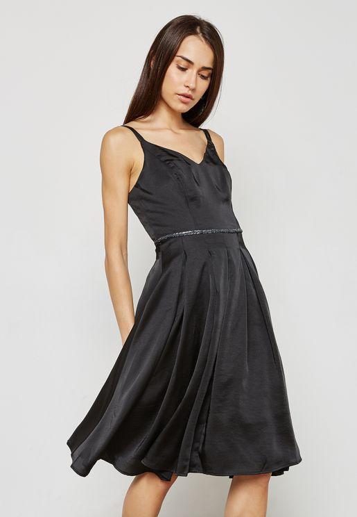 Embellished Detail Cami Dress