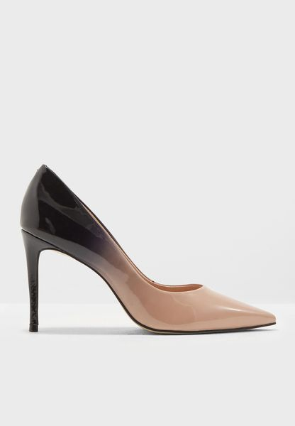 Ombre Glossy Court Shoe
