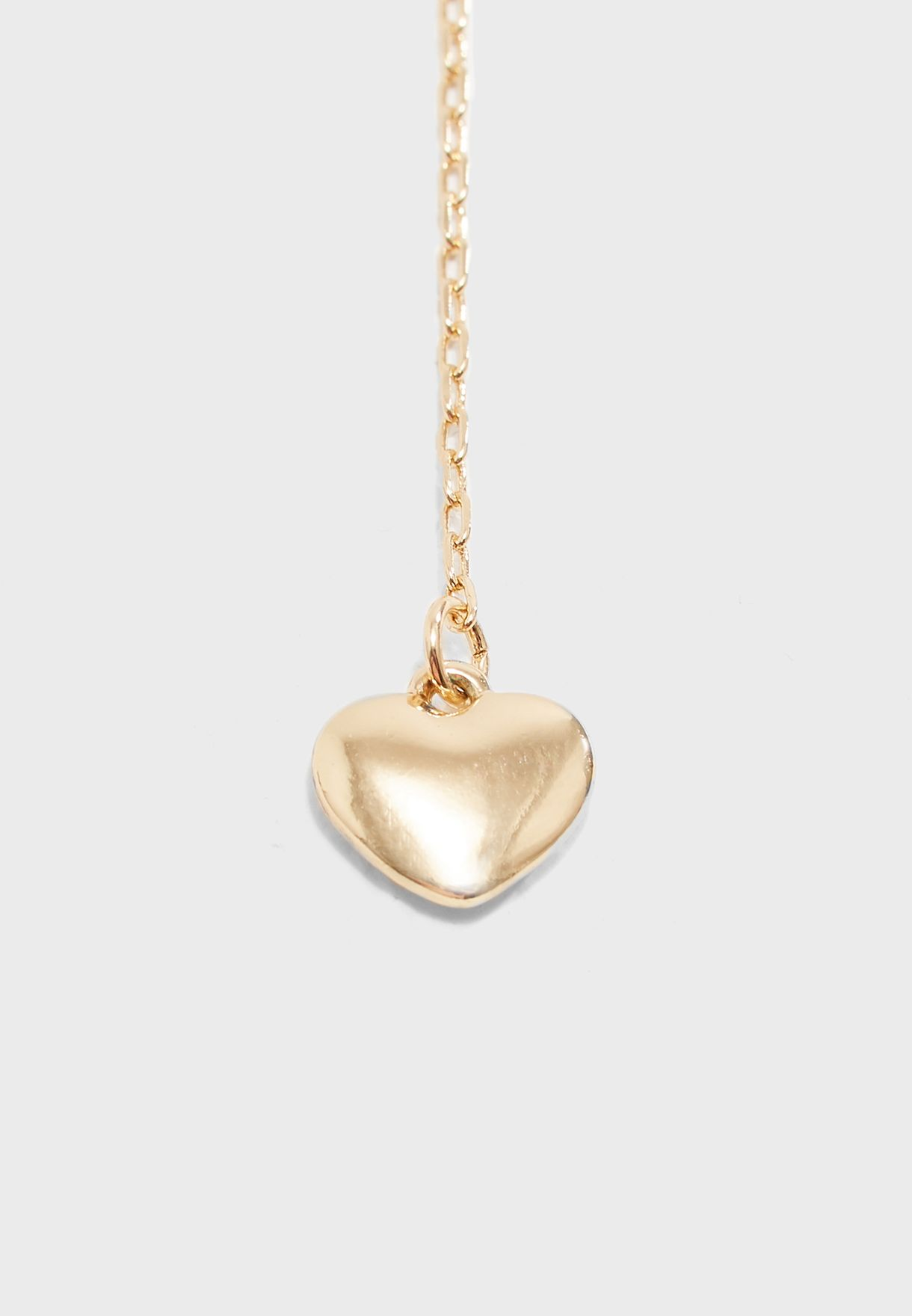 55ba96d92eabf Heart Charm Layered Drop Chain Necklace