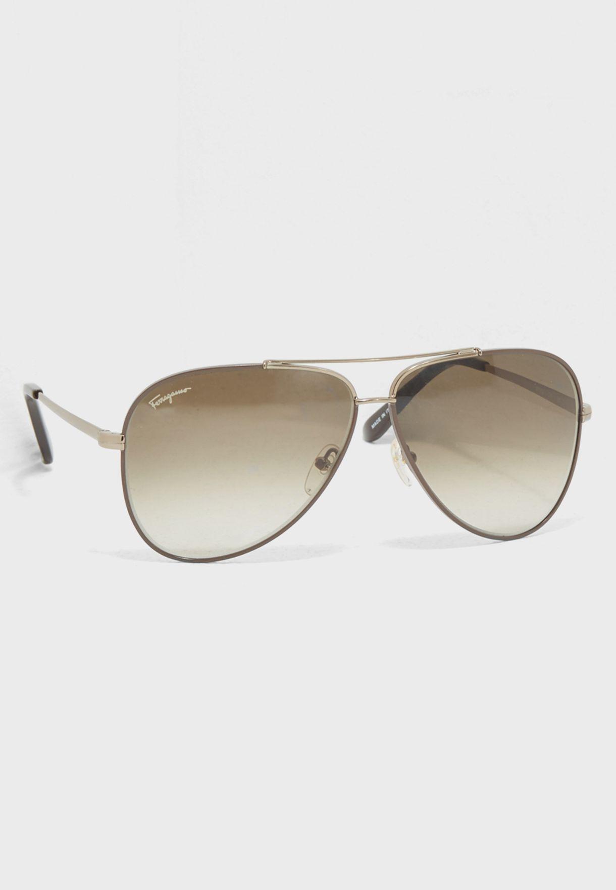7cce267c7e7 Shop Salvatore ferragamo browns Aviator Sunglasses SF131S for Men in Kuwait  - SA277AC06IIJ