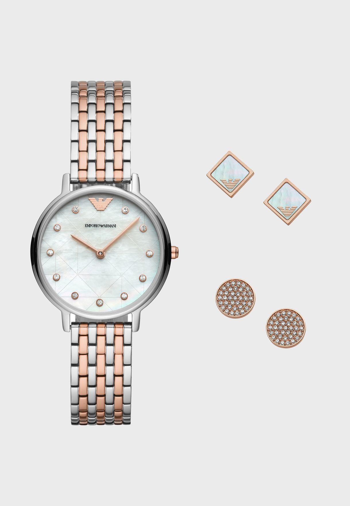 8ded9e617 Shop Emporio Armani multicolor AR80019 Kappa Fashion Watch AR80019 ...