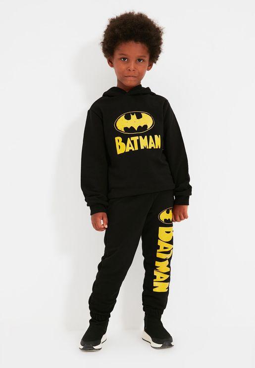 Kids Batman Cuffed Sweatpants