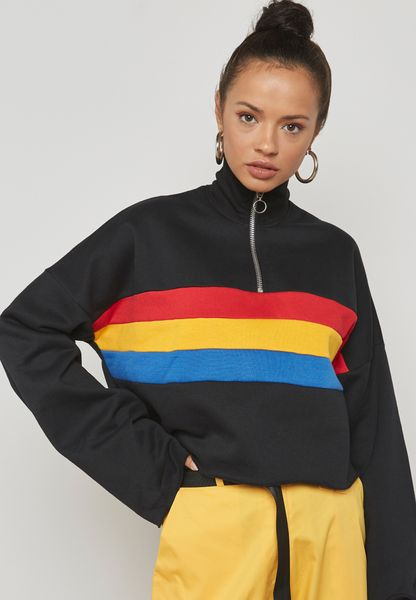 Zip Detail Sweatshirt