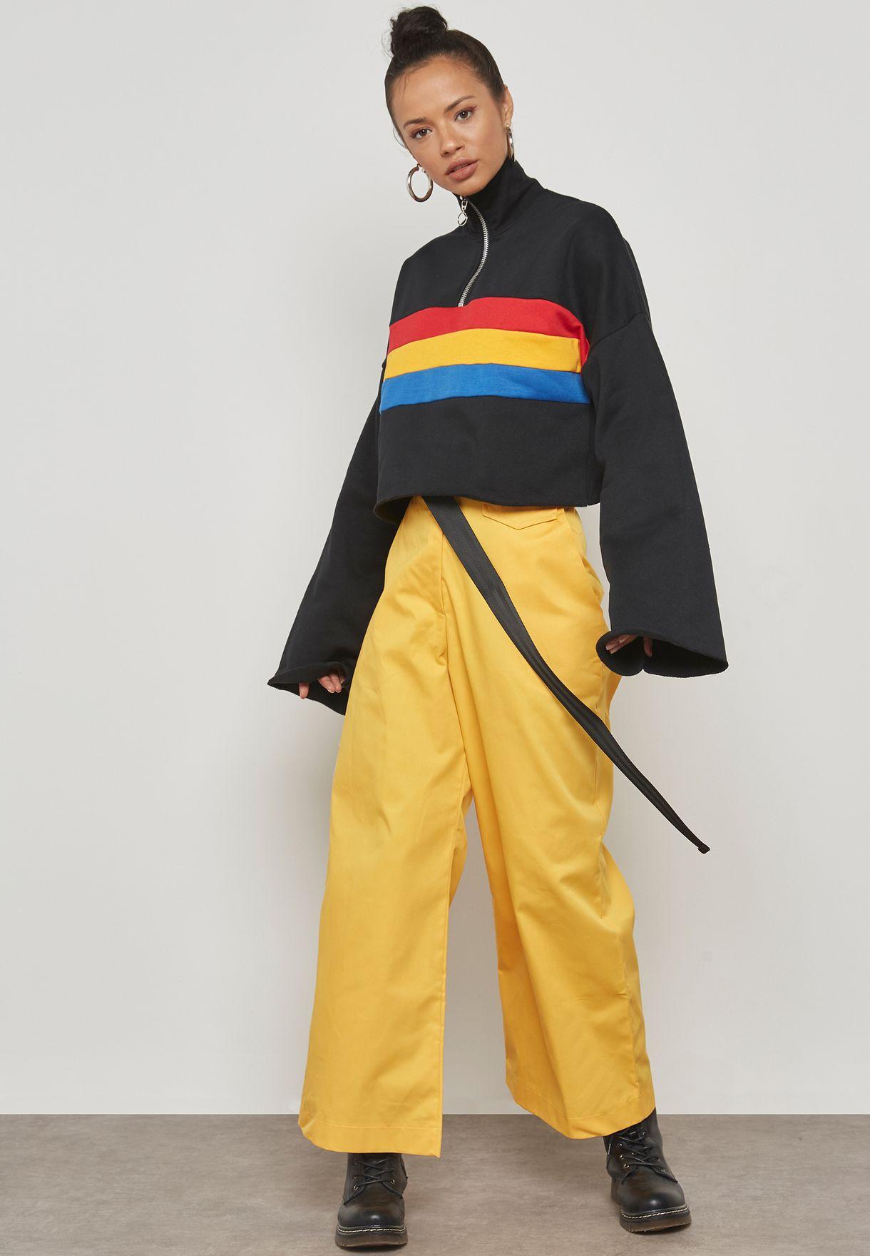 Zip Detail Sweatshirt