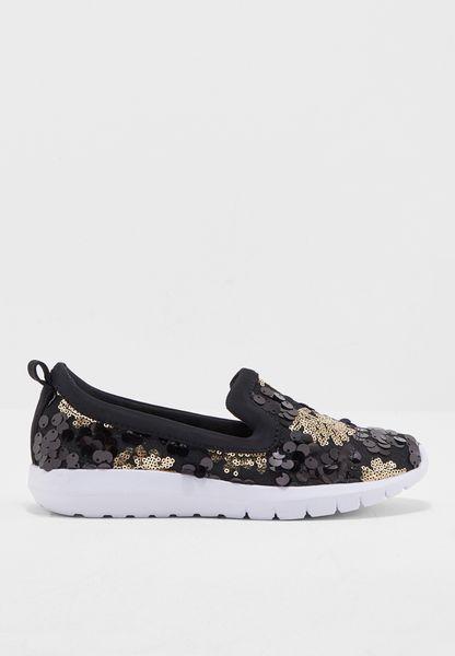 حذاء سهل الارتداء مزين بالترتر