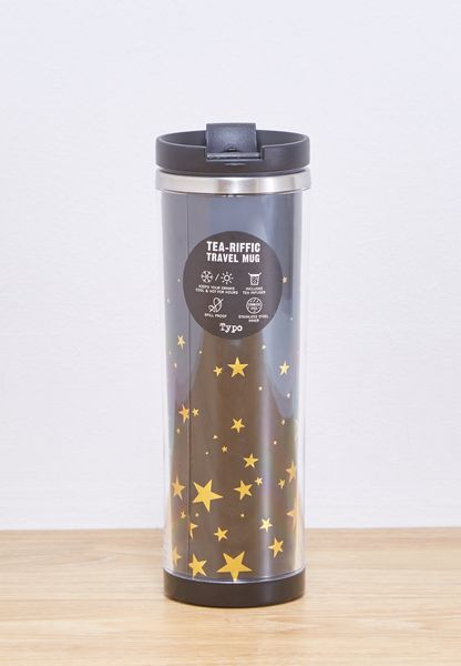 Embossed Stars Tea-Riffic Travelmug
