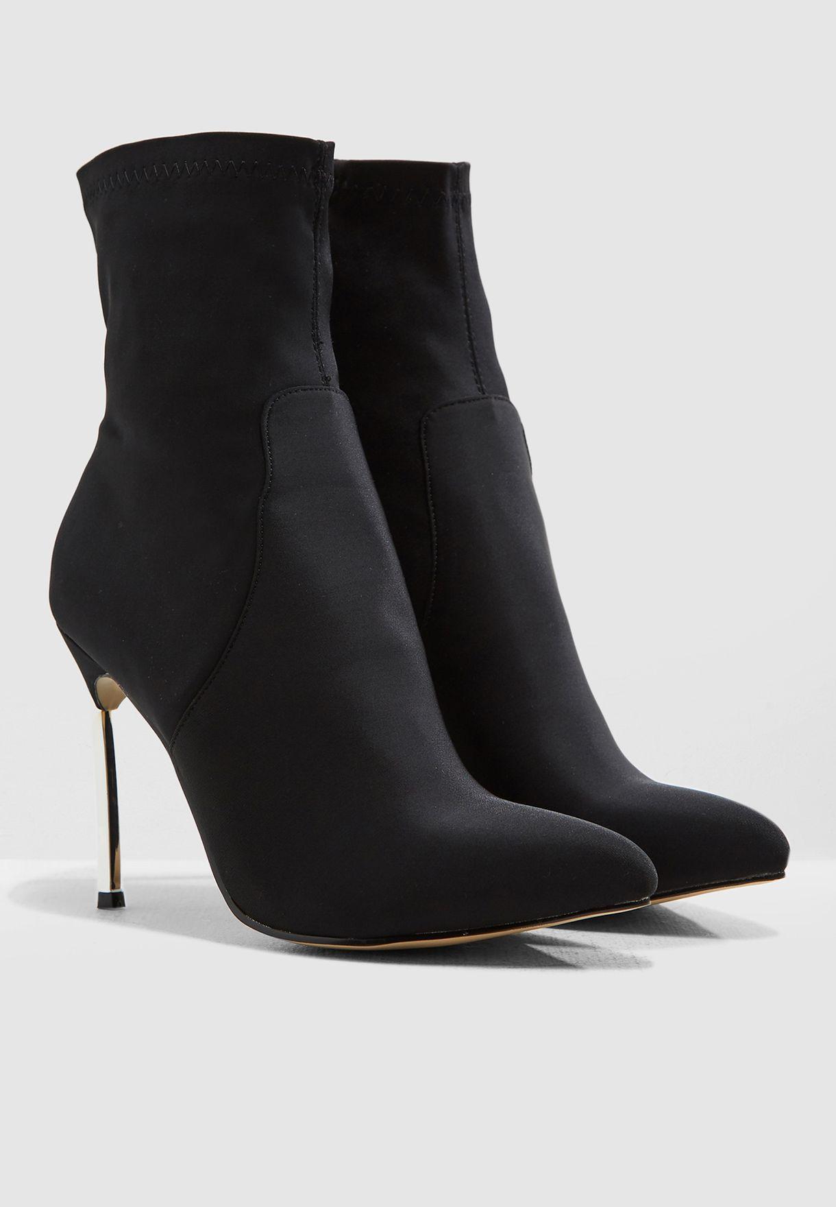 2b8c8a79457 Shop Public Desire black Haze Ankle Boot HAZE for Women in UAE ...