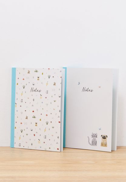 2 Pack A5 Sweet Essential Notebooks