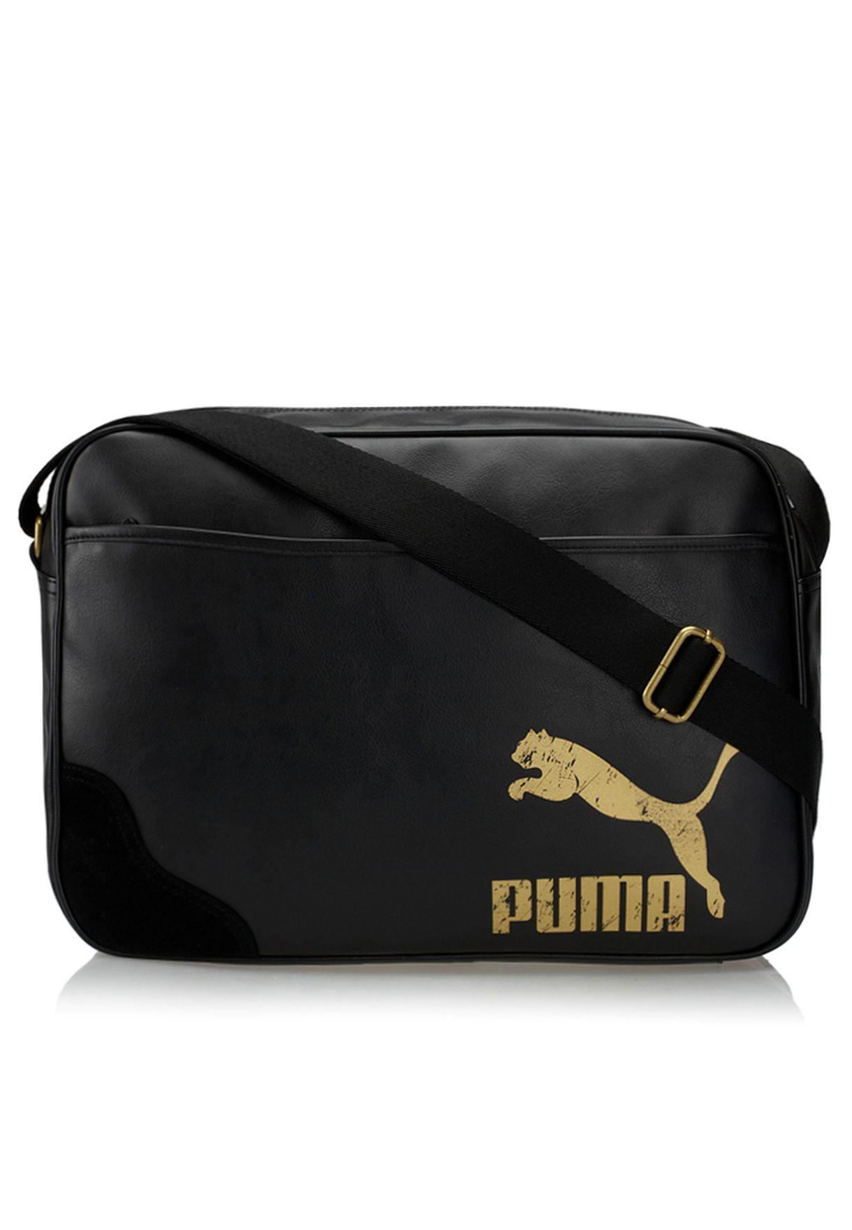 40bf8c8995 Shop PUMA black Originals Reporter Bag 7231801 for Men in UAE ...