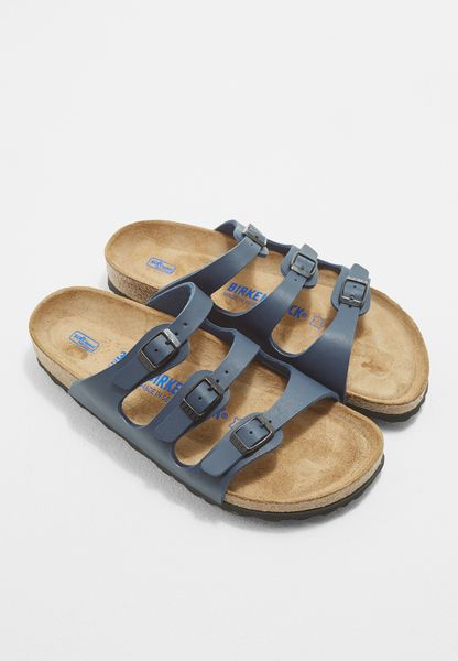 Three Strap Buckled Sandals