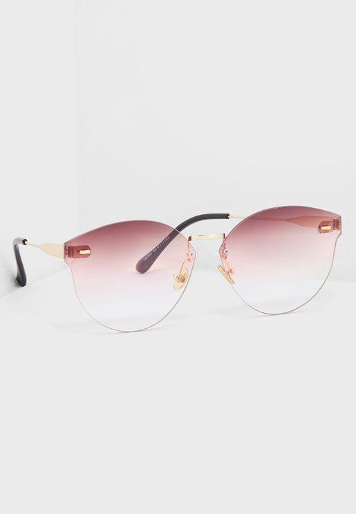Smoke Frameless Sunglasses