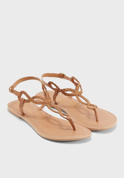 Tan Leather Farah Sandals
