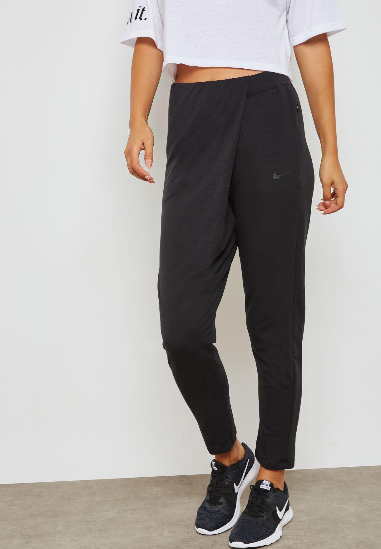 Shop Nike Black Dri Fit Studio Pants 933436 010 For Women In Uae