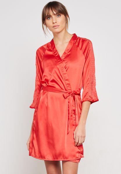 Satin And Lace Kimono