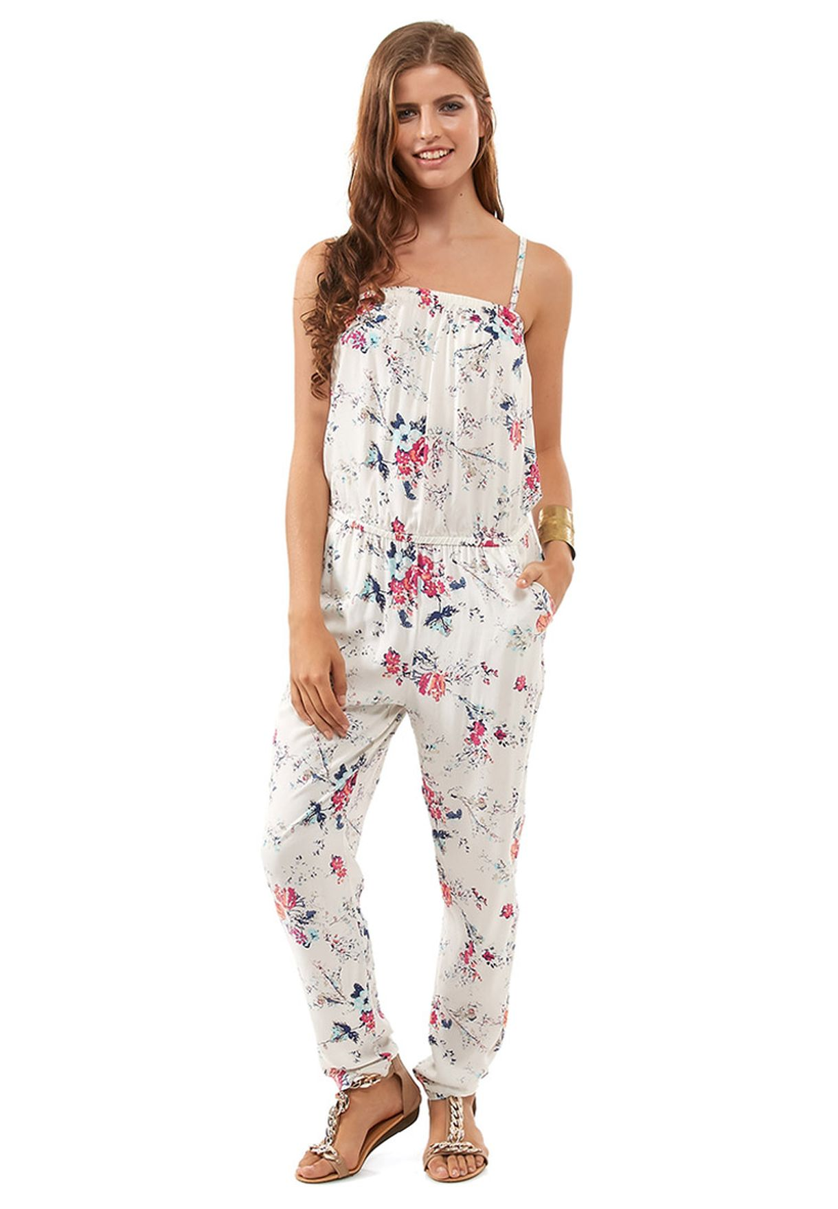 59b8f88e133b8 Shop Only white Moloko Floral Jumpsuit for Women in Qatar - ON544AT95AAA