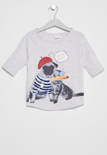 Kids Dog in Hat Tee