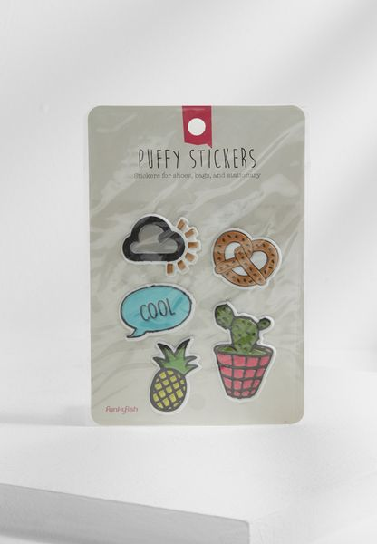 5 Pack Puffy Stickers