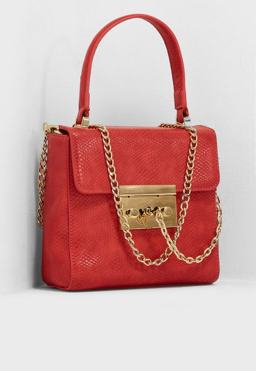 Chain Detail Satchel