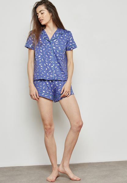 Printed Pyjama Shorts Set