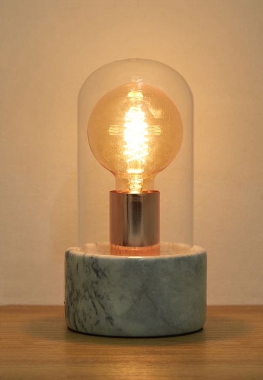 Modern Glass and Marble Table Lamp