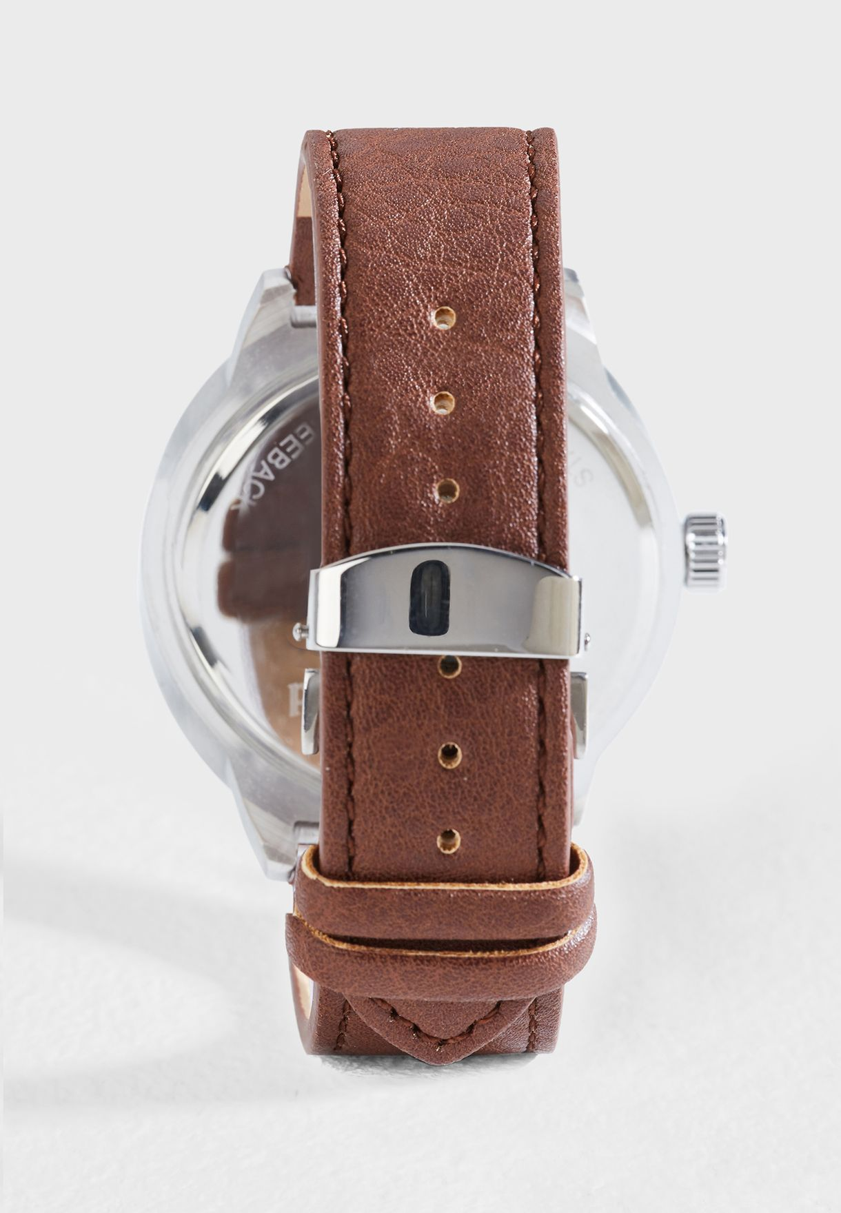 Deployment Clasp Strap Analogue Watch