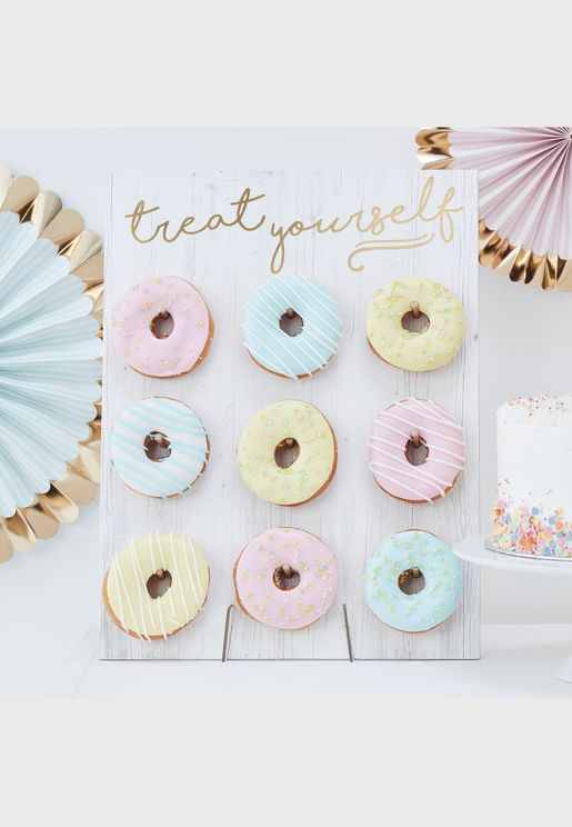 Treat Yourself Donut Wall