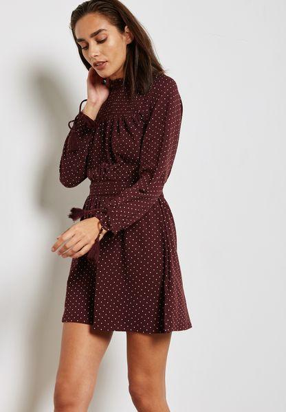 Dot Print Skater Dress