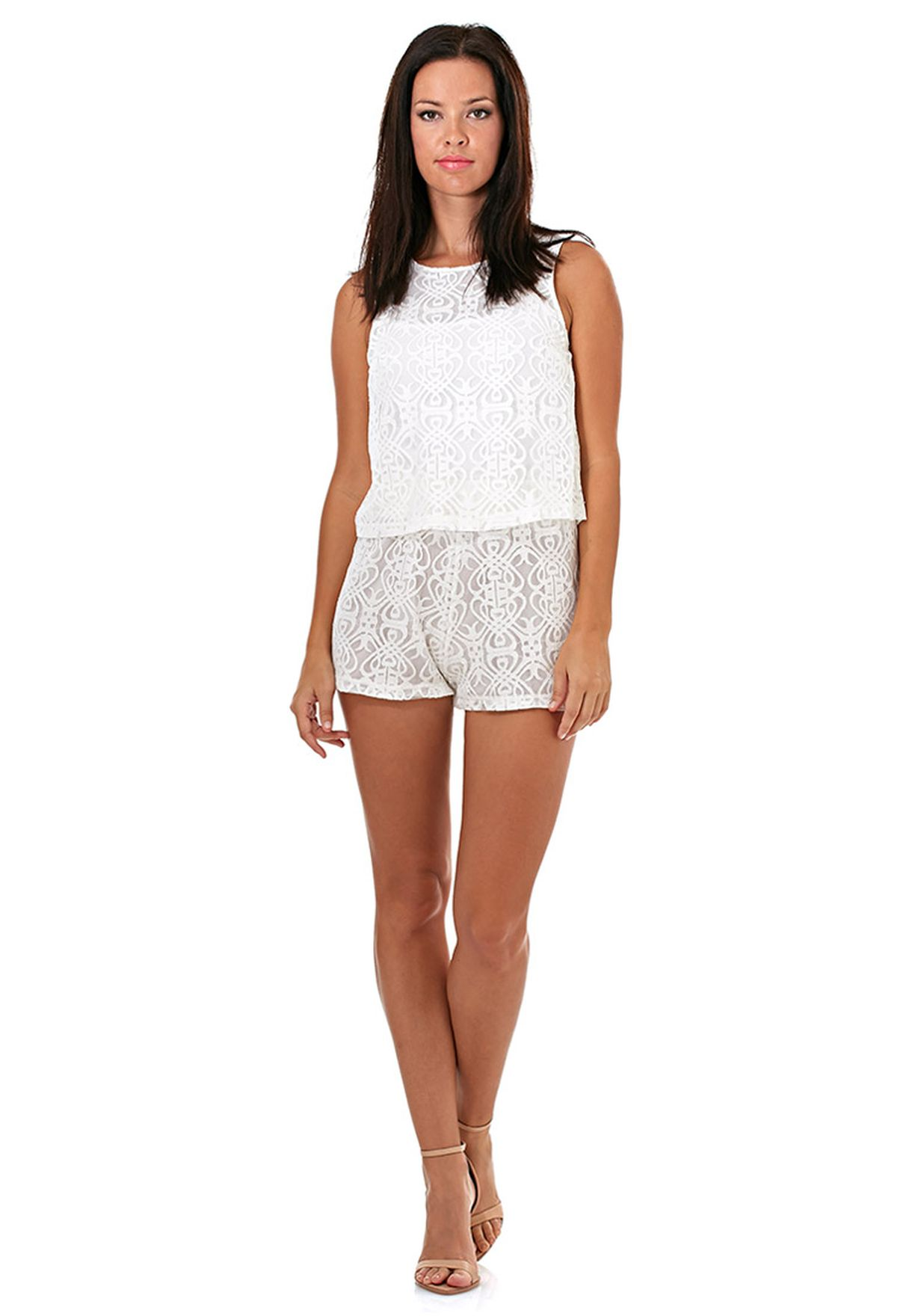 282596b8950 Shop Motel white Mary Playsuit for Women in UAE - MO828AT95BAA