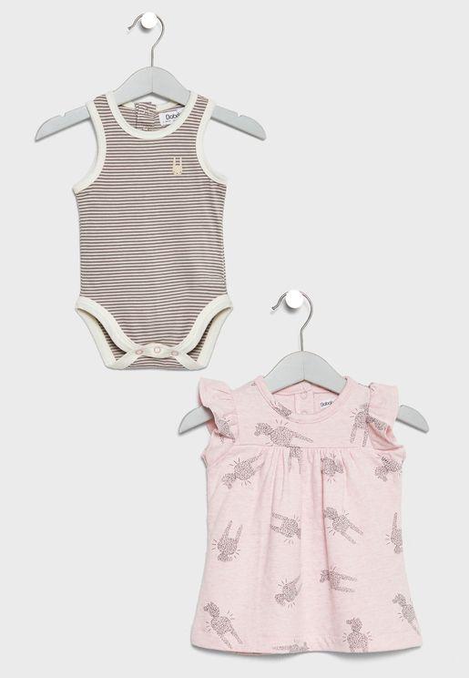 Infant Dress + Bodysuit Set
